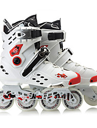 Unisex Adults' Inline Skates Adjustable White/Black