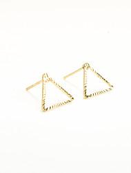 Non Stone Geometric Triangle Shape Stud Earrings Jewelry Geometric Euramerican Fashion Personalized Daily Casual Copper 1pc