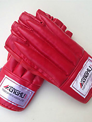 Boxing Gloves for Boxing Fingerless Gloves Breathable Wearproof Protective PUGloves