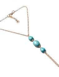 Femme Bracelet de cheville/Bracelet Gemme Alliage Mode Vintage Aigue-Marine Aux femmes Bijoux Pour Soirée Décontracté 1pc