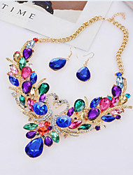 May Polly  Europe and the Swan Diamond Fashion Earrings Necklace Set