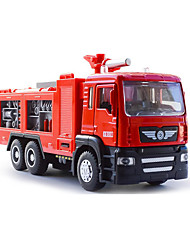 Fire Engine Vehicle Pull Back Vehicles Car Toys 1:50 Metal Plastic Red Model & Building Toy