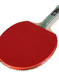 6 Stars Table Tennis Rackets Ping Pang Wood Long Handle Pimples Indoor Performance Practise Leisure Sports-#