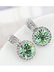 Stud Earrings Crystal Flower Style Euramerican Personalized Luxury Chrome Jewelry For Wedding Party Birthday Gift 1 pair