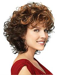 дешевые черный до коричневого цвета синтетических волос ежедневных париков для женщин