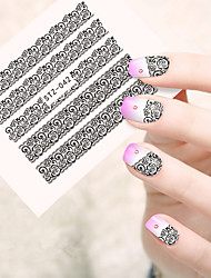 10pcs/set Adesivos para Manicure Artística Decalques de transferência de água Lace adesivo maquiagem Cosméticos Designs para Manicure