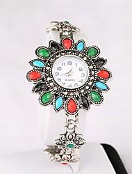 Женские Модные часы Кварцевый сплав Группа Люкс Белый Золотистый