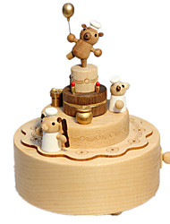Music Box Music Special Wood Brown