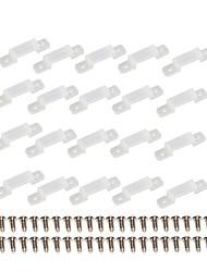 20 lots de supports de fixation à bande avec 40 vis pour smd5050 5630 3528 2835 lumières à bande led
