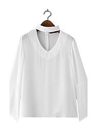 automne ebay aliexpress femmes européennes et américaines&# 39; mode sexy des manches trompette licol v-cou blouse souhait