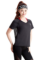 Women's Short Sleeve Running Tops Breathable Summer Sports Wear Running Slim Sexy Solid