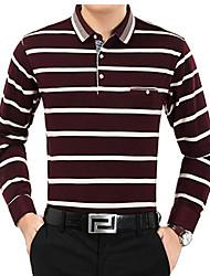 новые зимние мужчины&# 39, S воротник рубашки мужчин среднего возраста&# 39, S с длинным рукавом мода футболкой городского толстый