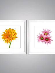 Framed Canvas Print Flower Picture Print on Canvas Modern Flower Giclee Print Contemporary  Artwork for Wall Decor Ready to Hang
