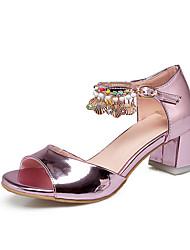 Женские сандалии летняя осень клубная обувь комфорт лодыжка ремень индивидуальные материалы свадьба&Велюровая пряжка