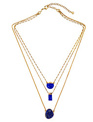 Women's Layered Necklaces Geometric Chrome Personalized Euramerican Jewelry For Wedding Congratulations