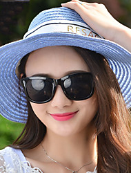 Women 's Spring Summer Cloth Strips Straws Dome Shade Beach Holiday Hat