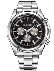 Masculino Relógio Elegante Relógio de Moda Relógio Casual Chinês Quartzo Aço Inoxidável Banda Legal Casual Prata Branco Preto