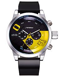 SINOBI Hombre Reloj Deportivo Reloj creativo único Chino CuarzoCalendario Resistente al Agua Luminoso Cronómetro Resistente a los Golpes