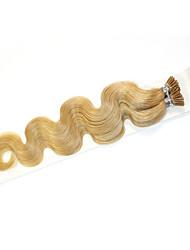 100g / paquet extensions de cheveux pré-liée fusion onde corps de bâton kératine je pointe des cheveux humains brazilian # 1b noir # 8 #