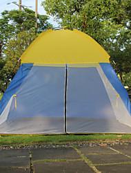 3-4 Personen Einzeln Einzimmer Camping ZeltCamping Reisen-Gelb Blau