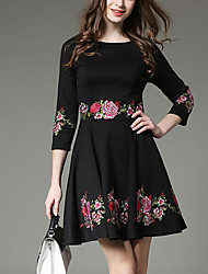 - Sign new spring 2017 women's embroidered dress and long sections Slim was thin A word skirt