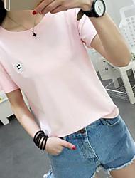 Li yi feng summer 2017 с моделями простой с короткими рукавами футболка вышитая смайлик женская класс обслуживания мужчины и женщины