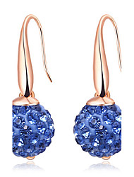 Women's Ball Earrings Crystal Euramerican Fashion Personalized Classic Crystal Copper Eco-friendly Material Geometric Jewelry For Casual Daily Party