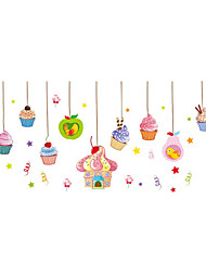 Wall Stickers Wall Decals Style Cartoon Ice Cream PVC Wall Stickers