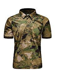 Unisexe Tee-shirt Chasse Respirable Confortable Eté Camouflage-MTIGER SPORTS®