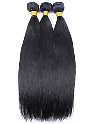 Mongolian 7A Grade Mixed Size 3pcs Best Quality Virgin Hair Extension Silky Straight Machine Double Weft 8-16 Tangle and Shedding Free