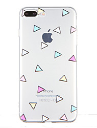 For Transparent Pattern Case Back Cover Case Geometric Pattern Soft TPU for Apple iPhone 7 Plus iPhone 7 iPhone 6s Plus iPhone 6 Plus