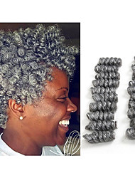 new curlkalon crochet braids 10inch synthetic kanekalon braiding hair extension 20 roots/pack saniya curls bouncy twist crochet hair 5packs make head