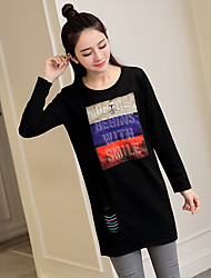 The new spring maternity and long sections bottoming shirt loose cotton t-shirt model real shot quality Spot