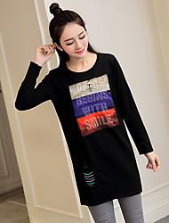 La nouvelle maternité de printemps et les longues sections chemise à bascule t-shirt en coton lâche modèle véritable coup de qualité