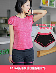 Women's Men's Running Clothing Sets/Suits Breathable Spring Summer Fall/Autumn Leisure Sports Spandex Slim Athleisure Slim