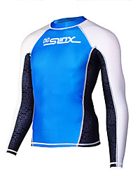 Men's Wetsuit Skin Ultraviolet Resistant LYCRA® Terylene Tactel Diving Suit Long Sleeve Tops-Beach Spring Summer Fall/Autumn Winter