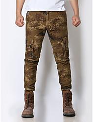 Men's casual trousers multi-pocket camouflage uniforms Slim wear overalls pants tide