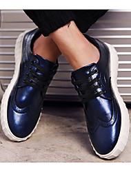 Men's Sneakers Spring Comfort Rubber Casual Flat Heel Dark Blue