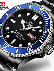 Carnival Мужской Модные часы Механические часы Наручные часы С автоподзаводом Нержавеющая сталь Группа Черный Черный/Синий