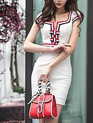 Version coréenne en 2017 du nouveau printemps mince maillot mince robe robe jupe, paquet, robe, robe, libre