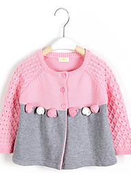 Casual/Daily Solid Blouse,Cotton Winter