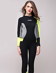 HISEA® Unisex Full Wetsuit Thermal / Warm Diving Suit Long Sleeve Diving Suits-Diving Spring Fall/Autumn Winter Classic Solid