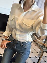 Nouvelle chemise en laine à la taille
