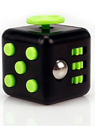 Anxiety Reliever Fidget Dice Cubic Cube Fidget Toys for Focusing / Stress Relieving ABS --Black & Green