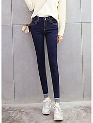 signe qualité spot 2017 nouveau jeans taille pieds de curling pantalon crayon de collants