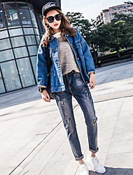 New spring female denim trousers collapse pants harem pants jeans tide feet loose pants pants tide