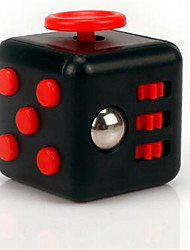 Anxiety Reliever Fidget Dice Cubic Cube Fidget Toys for Focusing / Stress Relieving ABS -- Black & Red