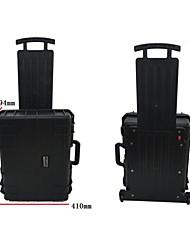 41 L Wasserdicht Staubdicht Stoßfest tragbar Multifunktions Hartschalenkoffer Schwarz
