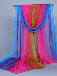 Womens Fashion Georgette Silk Cute Colorful  Scarfs 160*50CM