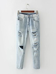 Women's Low Rise Stretchy Jeans Pants,Sexy Skinny Ripped Solid